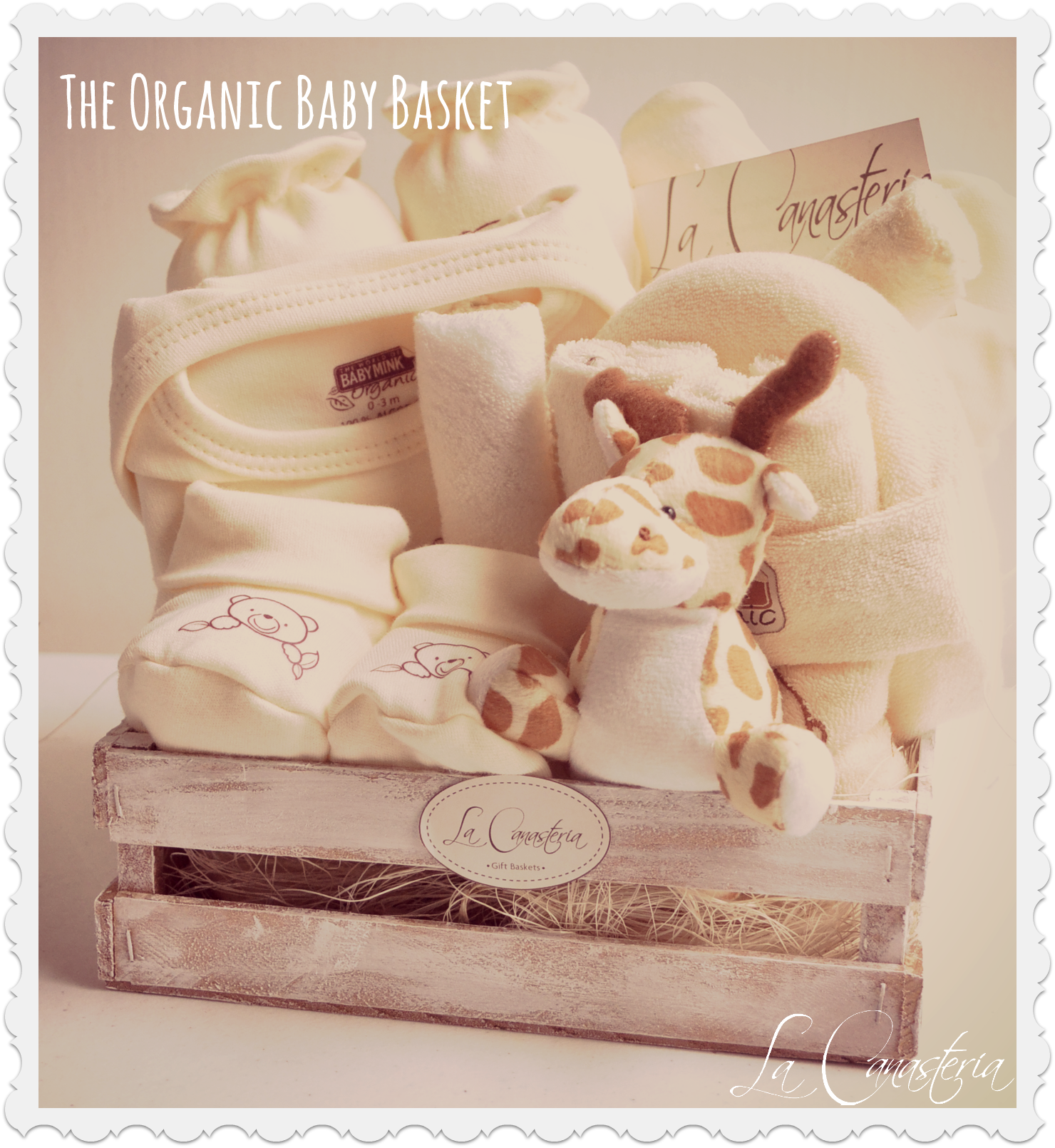 Set De Baño Para Bebe:Gift Basket for Baby with Logo
