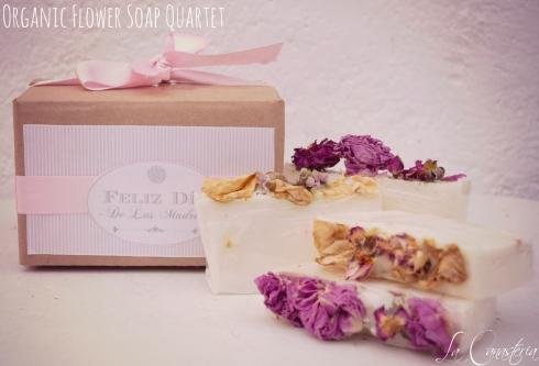 Organicflowersoapquartet