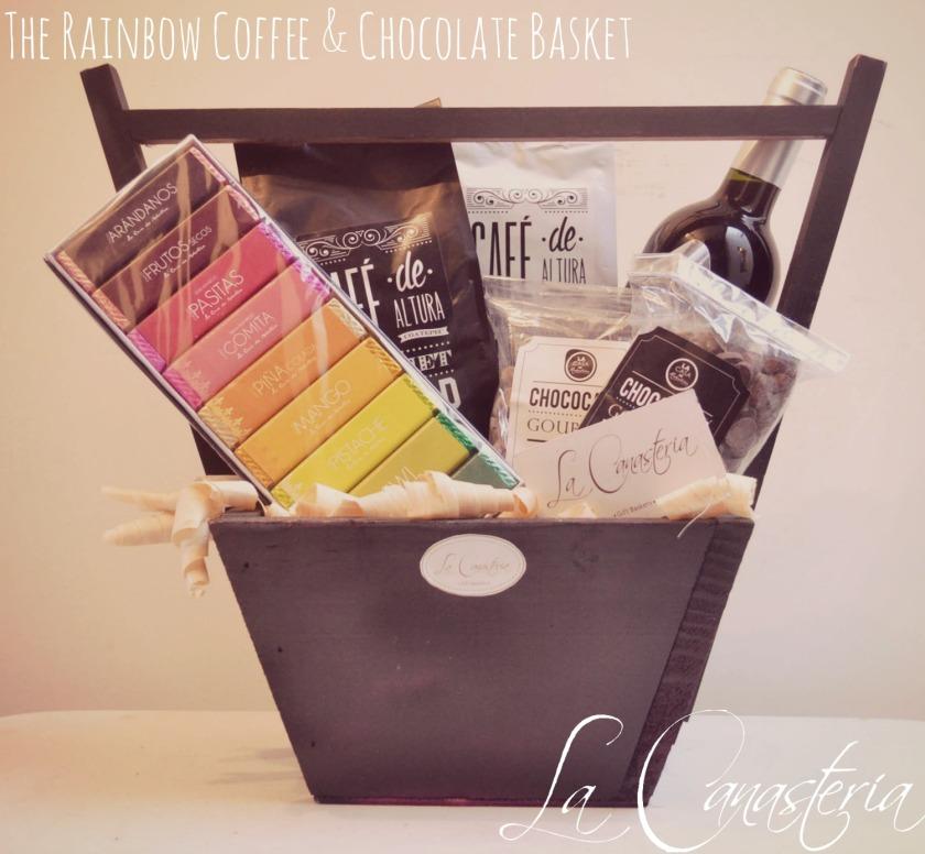 Therainbowcoffeeandchocolatebasket